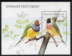 Togo 1996 Birds perf miniature sheet cto used