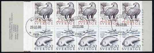 Booklet - Sweden 1988 Coastal Wildlife 22k booklet complete with first day cancels, SG SB407
