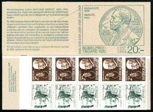 Booklet - Sweden 1980 Nobel Prize Winners of 1920 20k booklet complete and very fine, SG SB347