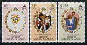 British Virgin Islands 1981 Royal Wedding set of 3 unmounted mint, SG 463-65