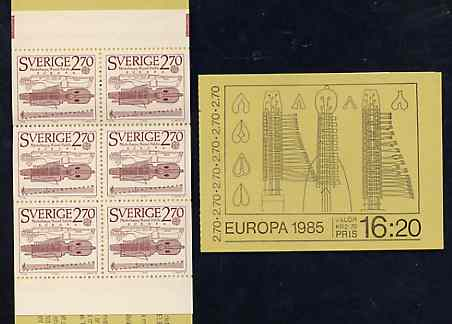 Booklet - Sweden 1985 Europa - Music Year 16k20 booklet complete and pristine, SG SB380