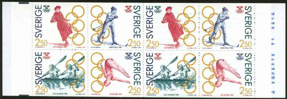 Booklet - Sweden 1991 Olympic Games Gold Medalists 20k booklet complete and very fine, SG SB438