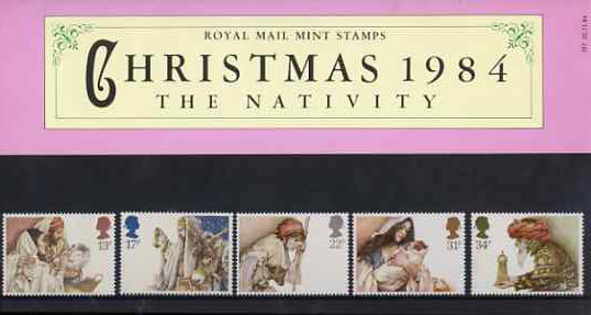 Great Britain 1984 Christmas set of 5 in official presentation pack SG 1267-71