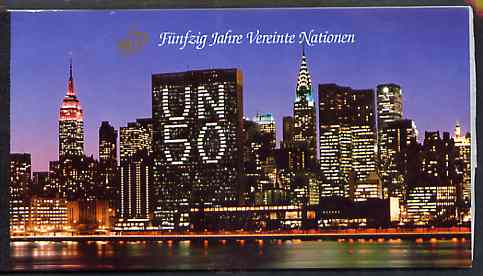 Booklet - United Nations (Vienna) 1995 50th Anniversary 36s booklet complete with first day cancels