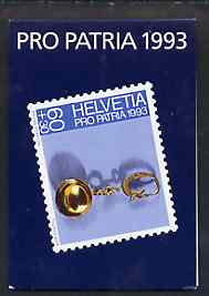 Booklet - Switzerland 1993 Pro Patria 9f80 booklet complete with cds cancels, SG PSB4
