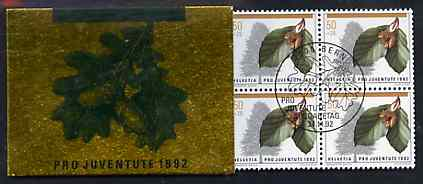 Booklet - Switzerland 1992 Pro Juventute 8f50 booklet complete with first day commemorative cancels, SG JSB42