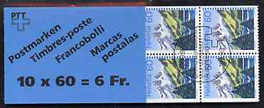 Booklet - Switzerland 1993 Lake Tanay 6f booklet complete with first day commemorative cancels, SG SB62