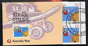 Booklet - Australia 1990 Skateboarding $4.30 booklet complete with first day cancels, SG SB70