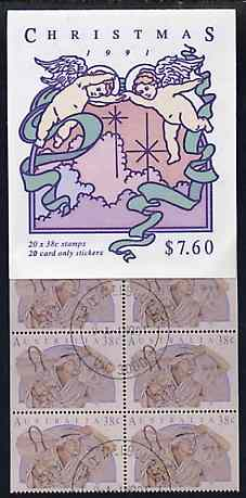 Booklet - Australia 1991 Christmas $7.60 booklet complete with first day cancels, SG SB75