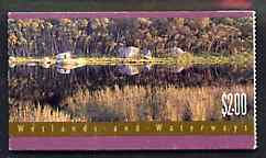 Booklet - Australia 1992 Wetlands & Waterways $2 booklet complete with fine cds cancel, SG SB76