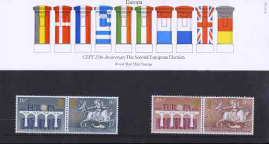 Great Britain 1984 Europa - 25th Anniversary of CEPT set of 4 in official presentation pack SG 1249-52