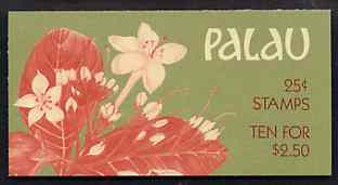 Booklet - Palau 1988 Flowers $2.50 booklet complete and very fine, SG SB12