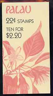 Booklet - Palau 1987 Flowers $2.20 booklet complete and very fine, SG SB9