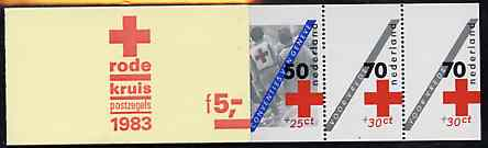 Booklet - Netherlands 1983 Red Cross 5g booklet complete and very fine, SG SB90
