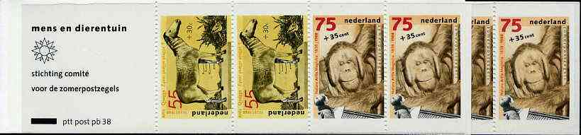 Booklet - Netherlands 1988 Welfare Funds - Zoological Society 3g90 booklet complete and pristine, SG SB99