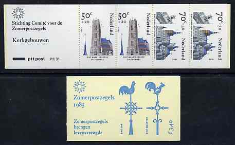 Booklet - Netherlands 1985 Welfare Funds - Religious Buildings 3g40 booklet complete and pristine, SG SB92