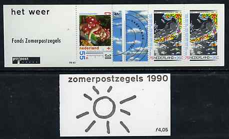 Booklet - Netherlands 1990 Welfare Funds - The Weather 4g05 booklet complete and pristine, SG SB101