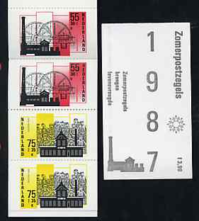 Booklet - Netherlands 1987 Welfare Funds - Industrial Buildings 3g90 booklet complete and pristine, SG SB96