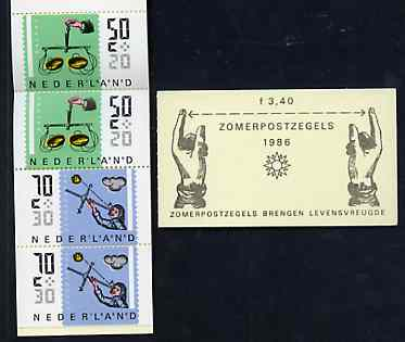 Booklet - Netherlands 1986 Welfare Funds - Measuring Instruments 3g40 booklet complete and pristine, SG SB93