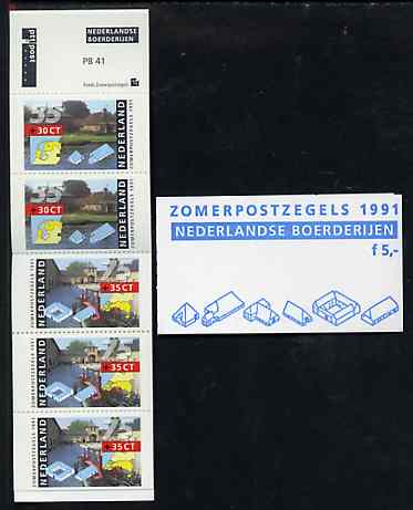 Booklet - Netherlands 1991 Welfare Funds - Farm Houses 5g booklet complete and fine, SG SB103