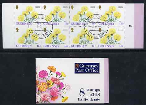 Booklet - Guernsey 1993 Flowers \A31.28 booklet complete with first day cancels, SG SB49