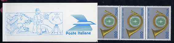 Booklet - Italy 1989 Centenary of Posts 3,000L booklet complete, unused and fine, SG SB7