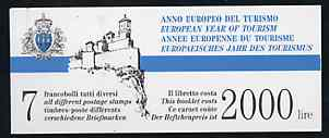 Booklet - San Marino 1990 Tourism Year 2,000L booklet complete and very fine, SG SB2