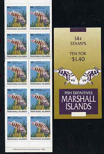 Booklet - Marshall Islands 1988 Fish $1.40 booklet complete and pristine, SG SB7