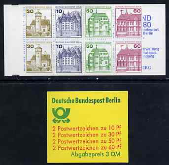 Booklet - Germany - West Berlin 1980 German Castles 3m booklet complete and pristine, SG BSB12