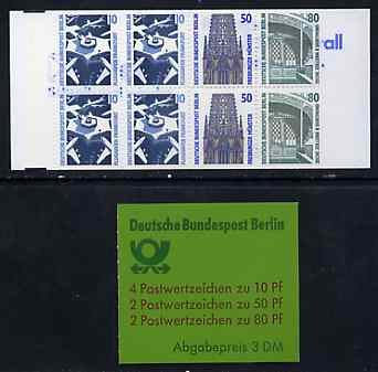 Booklet - Germany - West Berlin 1989 Tourist Sights 3m booklet complete and pristine, SG BSB14