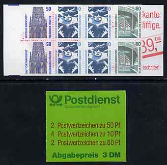 Booklet - Germany - West 1993 Tourist Sights 3m booklet complete and pristine, SG SB79a