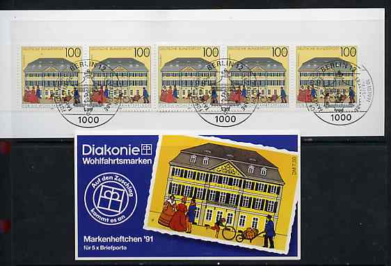 Booklet - Germany - West 1991 Bonn Post Office 7m50 booklet complete with commemorative cancels (contains SG 2419 x 5)