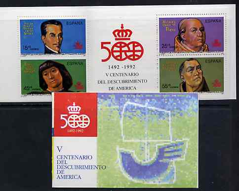 Booklet - Spain 1991 500th Anniversary of Discovery of America (6th Issue) 160p booklet complete and fine, SG SB9