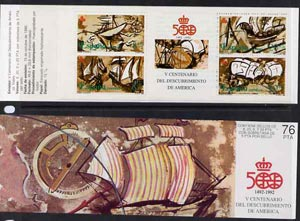 Booklet - Spain 1990 500th Anniversary of Discovery of America (5th Issue) 76p booklet complete and fine, SG SB8