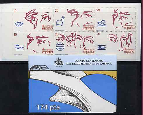 Booklet - Spain 1988 500th Anniversary of Discovery of America (3rd Issue) 174p booklet complete and fine, SG SB6