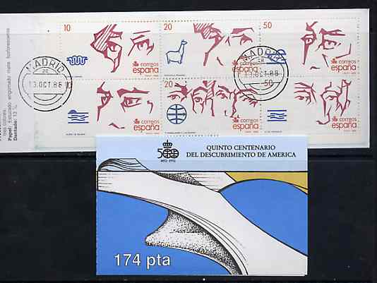 Booklet - Spain 1988 500th Anniversary of Discovery of America (3rd Issue) 174p booklet complete with first day cancels, SG SB6