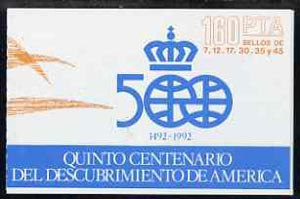 Booklet - Spain 1986 500th Anniversary of Discovery of America (1st Issue) 160p booklet complete and fine, SG SB2