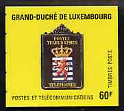 Booklet - Luxembourg 1991 Posts & Telecommunications 60f booklet complete and pristine, SG SB8