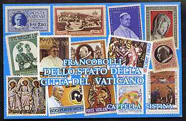 Booklet - Vatican City 1991 Sistine Chapel 5,400L booklet complete and pristine, SG SB3