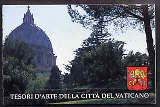 Booklet - Vatican City 1993 Architectural Treasures 5400L booklet complete and pristine, SG SB4