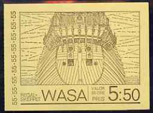 Booklet - Sweden 1969 Warship 'Wasa'5k50 booklet complete and pristine, SG SB239