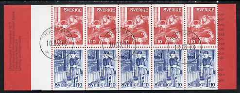 Booklet - Sweden 1977 Christmas 11k booklet (Seasonal Customs) complete with cds cancels, SG SB324