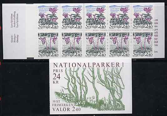 Booklet - Sweden 1989 National Parks #1 24k booklet complete and pristine, SG SB420