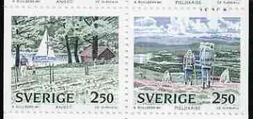 Booklet - Sweden 1989 National Parks #2 25k booklet complete and pristine, SG SB424
