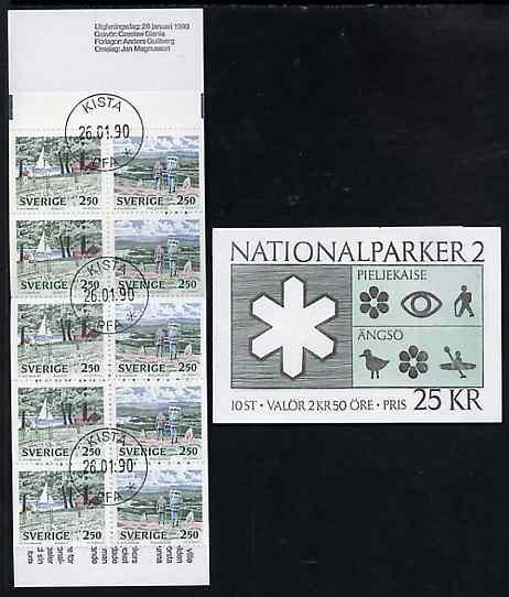 Booklet - Sweden 1989 National Parks #2 25k booklet complete with first day cancels, SG SB424
