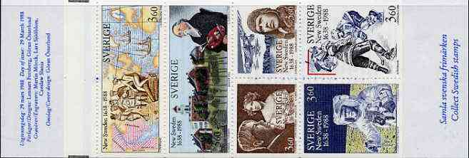 Booklet - Sweden 1988 New Sweden 21k60 booklet complete and pristine, SG SB406