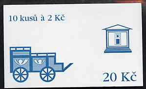 Booklet - Czech Republic 1993 Usti Nad Labem 20kc booklet (Mailcart on cover) complete and fine containing pane of 10 x Mi 13