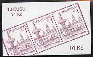 Booklet - Czech Republic 1993 Ceske Budejovice 10kc booklet (Stamp on cover) complete and fine containing pane of 10 x Mi 12