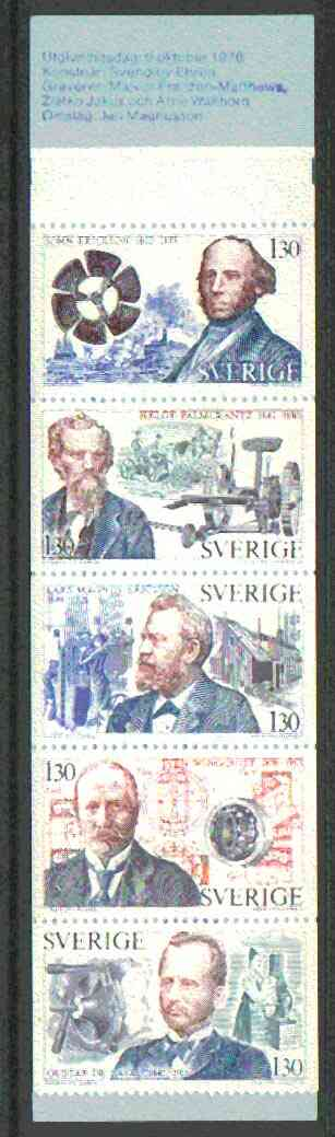 Booklet - Sweden 1976 Swedish Technological Pioneers 6k50 booklet complete and pristine, SG SB312