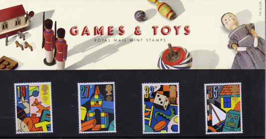 Great Britain 1989 Europa - Games & Toys set of 4 in official presentation pack SG 1436-39